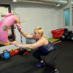 bulgarian bag swing squat Ilona